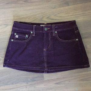 Deep purple corduroy miniskirt Paris blues